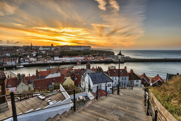 199 steps whitby Wall mural