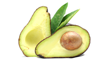 Wall Mural - Avocado on white background