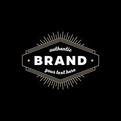 Brand sign black