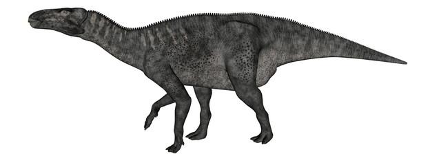 Iguanodon dinosaur walking - 3D render
