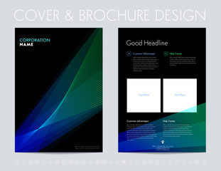 Layout cover design, brochure, magazine.