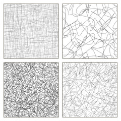 Seamless set of scribble patterns.