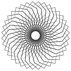 Abstract spiral, swirl, twirl element isolated on white. Monochr