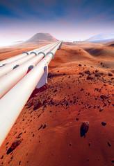 Water pipeline on Mars