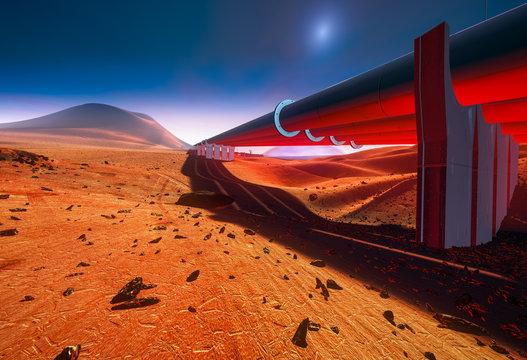 Pipelines on Mars, water supply