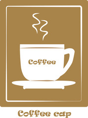 coffee cap icon, vector illustration