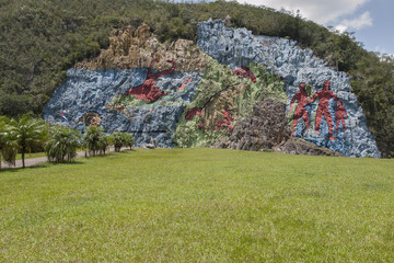 The Mural of Prehistory in the cuban Viñales valley