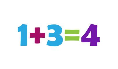 Mathematics 1+3=4