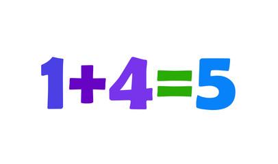 Mathematics 1+4=5