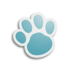 Blue dog paw.
