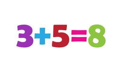Mathematics 3+5=8
