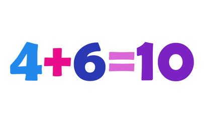 Mathematics 4+6=10