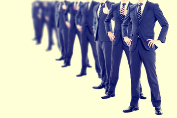 たくさん並んでいるビジネスマン,ビジネスイメージ
