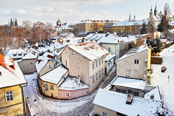 Novy Svet in Winter, Prague, Czech republic
