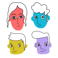 Colorful face of human