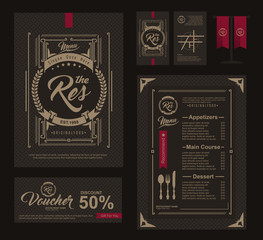 Big set of restaurant and cafe menu design,voucher,business card,flag table,Restaurant cafe menu, template design, Food flyer