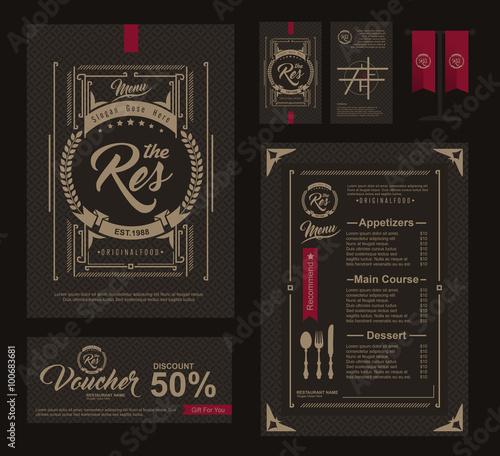 Big set of restaurant and cafe menu designvoucherbusiness card big set of restaurant and cafe menu designvoucherbusiness cardflag table reheart Choice Image