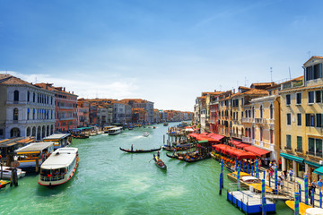 Beautiful view of the Grand Canal from the Rialto Bridge, Venice