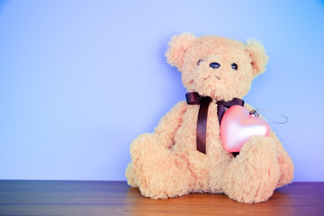 Teddy Bear toy with filter effect retro vintage style