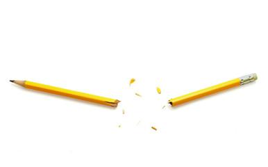 yellow broken pencil