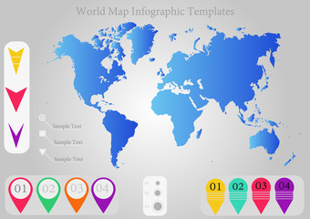 World Map infographic template vector illustration eps10