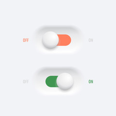 ON - OFF switches  button