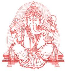 Lord Ganesha outline