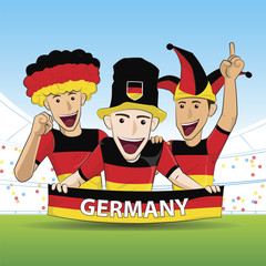 Group of Germany Sport Fans