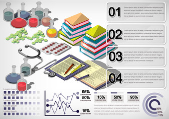 illustration of infographic medical concept in isometric graphic