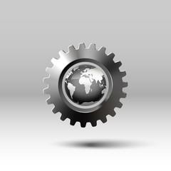 dark surround globe in metal gear with shadow