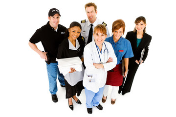 Occupations: Group of People in Various Jobs