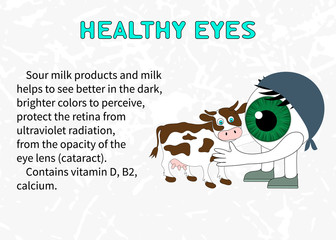 Benefits of dairy products for eyesight