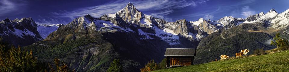 Bergalm in Visperterminen, Oberwallis, Schweiz