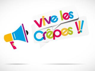 mégaphone : vive les crêpes !!!