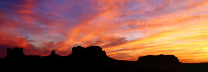 Sunset at Monument Valley, Utah, USA