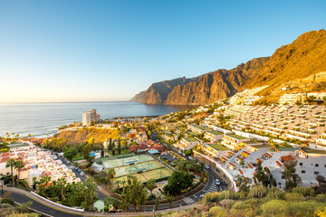 Cityscape view on Los Gigantes city
