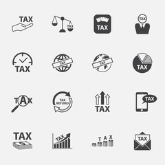 tax and money  icons set.vector. illustration