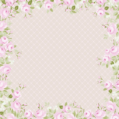 Template greeting card for Mother Day or Valentine Day