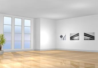 Leerer moderner Raum / Wohnzimmer