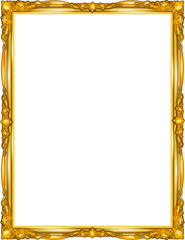 Wall Mural - gold photo frame floral for picture, vector