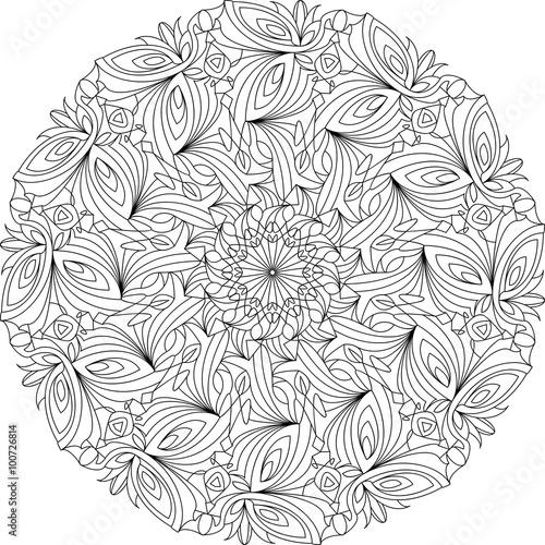 Mandala, Vorlage Malbuch für Erwachsene, Meditationshilfe, zur Ruhe ...