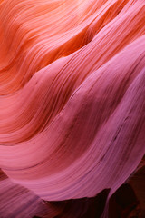 Antelope Canyon as seen in the early afternoon, resulting in deep purple colors, Page, Arizona, USA