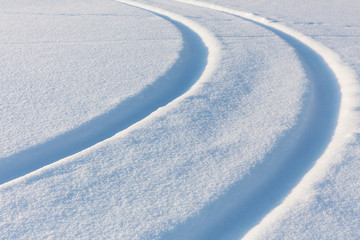 snow-covered track