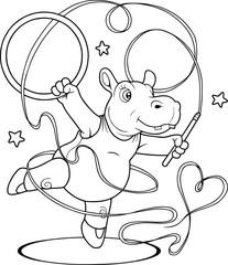 hippo gymnast