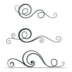 Swirl elements for design.