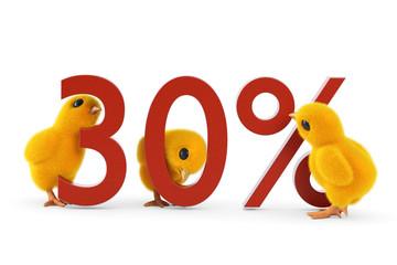 Küken 30 Prozent