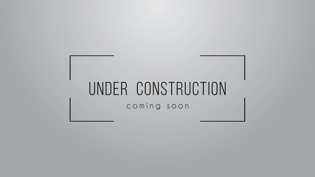 Under construction simple sign on grey background. Vector illustration.