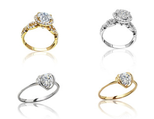 Set of rings. Best wedding engagement ring