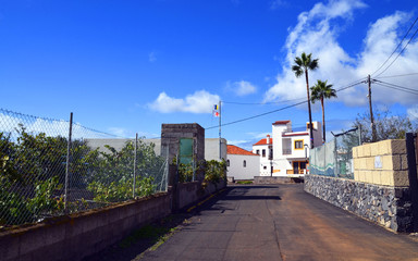 Street  in mountain village on Tenerife,Canary Islands.