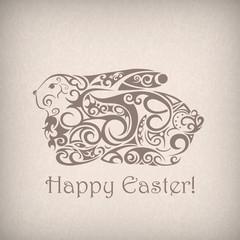 Cute ornamental Easter rabbit.